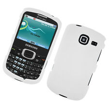 For Samsung Freeform 4 R390 Rubberized HARD Case Snap On Phone Cover White