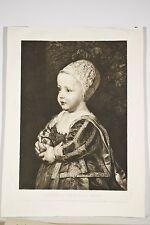 Portrait Jacques II d'Angleterre Enfant Gravure 1901 d'après Van Dick par Chessa