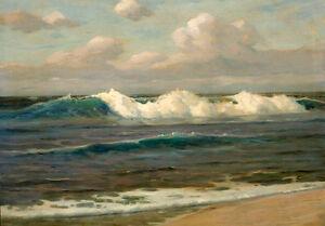 Dream-art Oil painting seascape An Expansive Landscape ocean waves hand painted