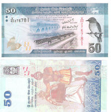 SRI LANKA 2010  50 RUPEES BIRD SERIES UNC