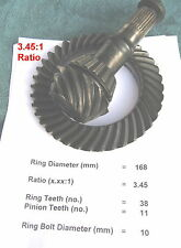 BMW E30 168mm Differential *3.45 Ratio* Ring & Pinion Gear Set Small Case LSD