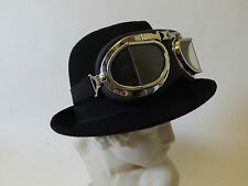 Trilby Hat New Victorian Steampunk Wild West Classic Festival Wool Black