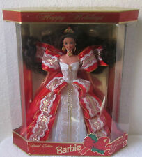 1997 Happy Holiday Brunette Barbie Doll, Christmas Holiday