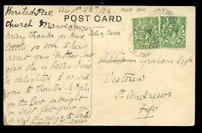 Escocia Argyllshire 1923 PPC tumbas de reyes Iona enviados desde X2 449 Matasellos
