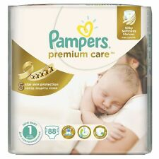 _PAMPERS Premium Care New Born Gr.1 2-5 kg 88 Windeln Starter Paket Super