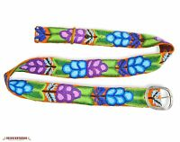 Peruvian Handmade Embroidered Wool Belt Floral Multicolor - Women Belts S-M-L-XL
