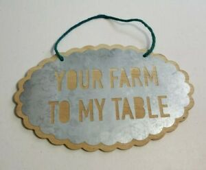 YOUR FARM TO MY TABLE wood wall plaque farmhouse country home decor
