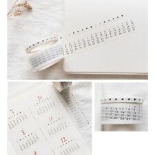 Vintage Calendar Decoration Washi Tape DIY Scrapbooking Masking Tape Sticker