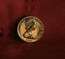 1979 Solomon Islands 2 Cents Unc World Coin KM2 Elizabeth II Rare Oceania