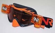 Rip N Roll Híbrido completamente cargado Gafas Motocross MX Enduro RNR Nuevo Negro/Naranja