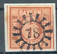 Bayern Kleines Briefstück Mi.-Nr.4I mit Nr.-St. 78 -Erlangen, geprüft