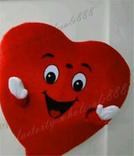 Red Love Heart Mascot Costumes Christmas Valentine Party fancy Dress Adult gifts