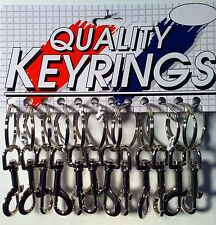 New Lot of 12 Large Metal Jeans Clip Key Rings U.S.A. Seller