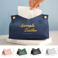 PU Leather Tissue Box Case Cover Napkin Paper Holder Storage for Car Home  AU
