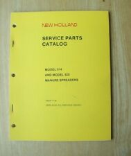 New Holland Model 514 Amp 520 Manure Spreader Service Parts Catalog Manual
