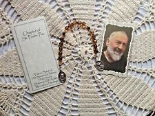 *NEW* *ST. PADRE PIO Hand-made  CHAPLET* Czech Glass beads, CHARMING!