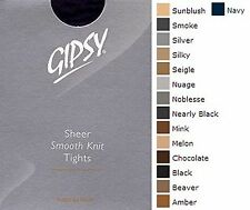 GIPSY 20 DENIER SMOOTH KNIT TIGHTS AVERAGE SIZE IN VARIOUS SHADES