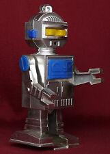 Rare Russian Soviet Ussr Space propoganda Vtg Toy Robot windup chromed astronaut