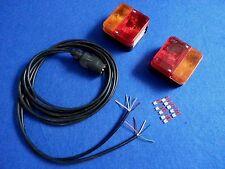 Trailer Caravan Light Electrics Rewire Kit 8m Double Cable with Pug Clusters
