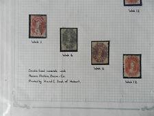 8 x 1857-1860 Van Diemens Land/Tasmanian Stamps