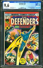 DEFENDERS #28 - CGC 9.6 - WHITE NM+ 1ST FULL STARHAWK - GUARDIANS OF THE GALAXY