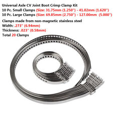 10 Set 20 pcs Stainless Steel Car Drive Shaft Axle CV Joint Boot Clamps Kit New