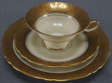 Rare Unger & Schilde Gold Encrusted Echt Atzgold Breakfast Set Circa 1896 - 1968