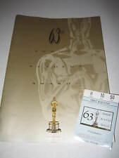 63rd ACADEMY AWARDS 1991 ORIGINAL TICKET & PROGRAM DANCES WITH WOLVES (525)