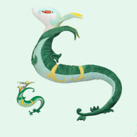 43.3''Anime Cute Snake Serperior Plush Toy Soft Stuffed Doll Kid Fans Gift Prop
