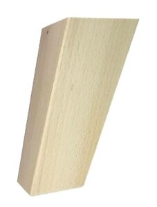 Höhe 115  Möbelfüße Möbelfuß Schrankfüß Sofafuß Holz Buche BUCHEN HOLZ