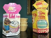 Vintage Betty Brite Bake Cups Muffin Baking Cups Paper Maid baking cups 1950 60s