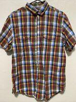 Men's Banana Republic size large 100% Cotton Multicolor short sleeve shirt