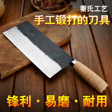 Cleaver Chinese Chef Knife Forged Steel Slicing Chopping Wood Handle Style Meat