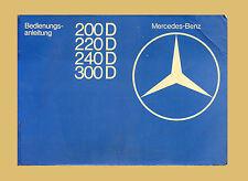 Mercedes W123 1976 Bedienungsanleitung 200 D 220 D 240 D 300 D Betriebsanleitung