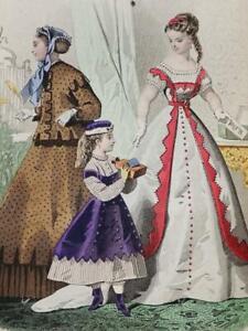 16 Planches MODE FEMMES 1866 Robes Coiffures JOURNAL DES DEMOISELLES Stylisme