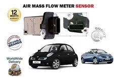 para Nissan Micra K12 1.4 1.6 SR CABRIO COUPE 2002- > Medidor Masa Flujo De Aire