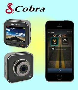Cobra driveHD Dash Cam with WiFi Super HD 1296P includes 8Gb SD Card - CDR900E