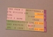 1985 Santana Rock Concert Ticket Stub Pier 84 New York City Vintage Music