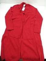 Chico's Long Collared Mabel Cardigan Red Sweater Women's Size 0 New NWT
