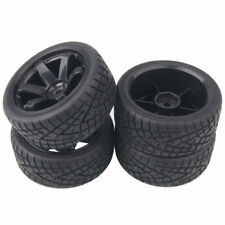 RC 701-8001 Rubber Tires & Wheel Plastic 4Pcs For HSP HPI 1/10 On-Road Car