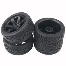 RC 701-8001 Rubber Tires & Wheel Plastic 4Pcs For HSP HPI 1/10 On-Road Car