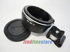 Pentax PK K Lens to Micro 4/3 M4/3 Tripod Mount Adapter E-P2 E-P3 E-PL1 E-PM1 G1