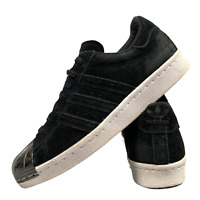 Adidas Superstar Women's Shoes Size Uk 5.5 Black Suede Casual Trainers EUR 38.5