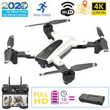 Mini Faltbar WIFI Drohne 4K HD Kamera Quadrocopter GPS RC Drone Selfie FPV Weiß