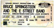 BRUCE SPRINGSTEEN ticket bercy paris 1999