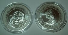 2020 St. Helena 1 oz Silver Japanese Trade Dollar Restrike (BU) Low Mintage 5000