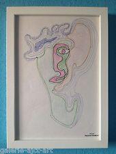 Raymond TRAMEAU Dessin Organique Visage Cubiste 1960 Pablo PICASSO Arp etc...