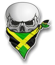 Skull With Face BANDANA & Jamaica Jamaican Country Flag vinyl car sticker decal