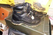 Dewalt Recip Black Leather Waterproof Safety Boots - UK 9 / EU 43 - AA389