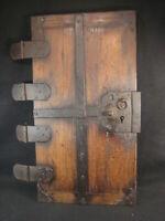 ANTIQUE(c.1780) EDO ERA  JAPANESE TANSU CHEST DOOR.  ALL FORGED IRON